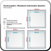 Standardeinband Hardcover Quadrat (200x200mm)